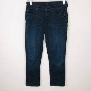 7 For All Mankind Skinny Crop & Roll Jeans 25